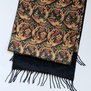 Vintage Ferragamo Cashmere & Silk Scarf